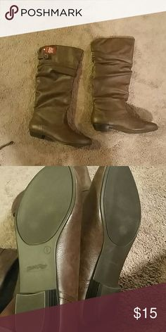 Calf boots 15inch up calf  1inch heel Faded Glory Shoes
