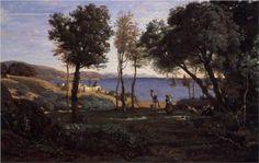 View near Naples - Camille Corot