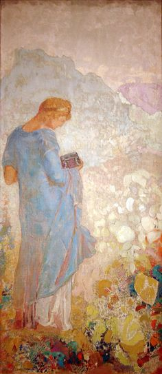 Pandora, 1910/1912 by Odilon Redon, oil on canvas
