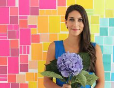 Poppytalk: DIY Post-it® Note Photobooth Backdrop