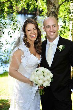 Zoe and Cameron. Cameron Jones, Lace Wedding, Wedding Dresses, Wedding Couples, Real Weddings, Photography, Fashion, Bride Dresses, Moda
