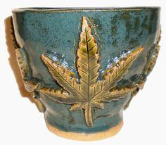 Cannabis Flower Pot (a.k.a. Pot Pot) by Aaron Nosheny / Aberrant Ceramics
