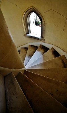 Stairwell in the abandoned Dundas Castle, Roscoe, NY.