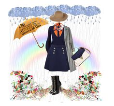 """""""Dancing in the Rain"""" by keepfashion92 ❤ liked on Polyvore featuring Hermès, Burberry, Tommy Hilfiger, Aspinal of London, Armani Jeans, Loewe, WALL and Valentino"""