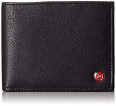 Alpine Swiss Mens Leather Flipout ID Wallet Bifold Trifold Hybrid Slim Leather Wallet, Money Clip Wallet, Id Wallet, Cowhide Leather, Leather Men, Luxury Mens Wallets, Gents Wallet, Cool Mom Style
