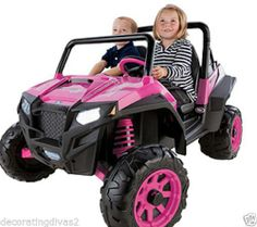Peg Perego Polaris Ranger RZR 900 12-V Battery-Powered Girls Ride On Toy PINK