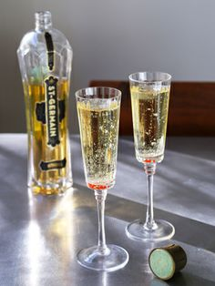 St. Germain and Champagne #drinks #recipes #Oscars