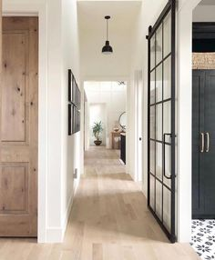The most gorgeous hallway inspo with white oak floors and sliding French doors v… – Decor Home Sliding French Doors, Double Doors, Hill Interiors, The Doors, Front Doors, Entrance Doors, Interior Barn Doors, Interior French Doors, Black Trim Interior