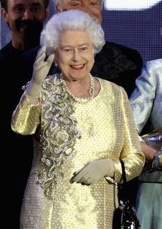 Queen Elizabeth II in Diamond Jubilee - Buckingham Palace Concert june 4, 2012