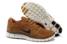 wholesale dealer 7cdd8 4d0a9 Mens Nike Free Run 3 Leather Sandy Brown Grey Shoes
