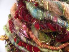 A Riddling Tale - Handspun Art Yarn - 40 Yards by Neauveau Fiber Art and Handspun Yarn Shop