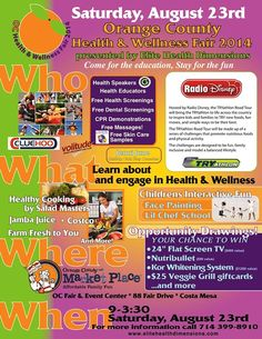 Join us for the one-day event to learn about farm fresh organic food, quality sleep for kids, healthy cooking and sports activities promoting a healthy lifestyle.  Get free health screenings, massages and CPR classes.  Participate in a scavenger hunt and enter for a chance to win a flat screen TV, workout DVDs, therapeutic hula hoop and more!