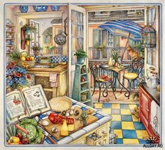 Charming balcony kitchen