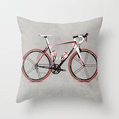 Race Bike Throw Pillow by Wyatt Design - $20.00