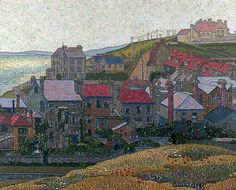 Rottingdean by Charles Ginner (1878–1952): Worthing Museum and Art Gallery #WorthingMuseum