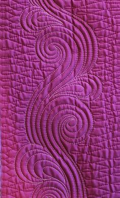 "This machine quilting gallery of swirls will get you inspired to ""put a swirl on it"""