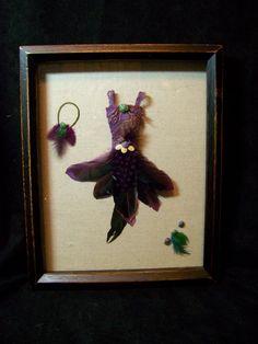ooak shadow box fairy clothes dress fae cindy sjoberg. $23.00, via Etsy.
