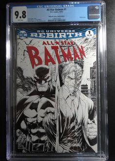 0c0161a6714990 All Star Batman  1 Tyler Kirkham Sketch Variant Midtown Comics Edition CGC  9.8 Midtown Comics