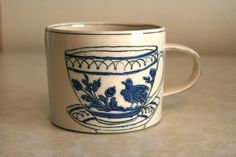 Teacup Mug - I've been dreaming of owning one of these for a long while now. So sweet.
