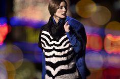 Olivia Palermo para Vitamina  Abrigo Sigur / Sweater Selas / Camisa Litur Also on : http://oliviasstyle.blogspot.tw/2014/02/olivia-palermo-for-vitamina-fall-winter_13.html