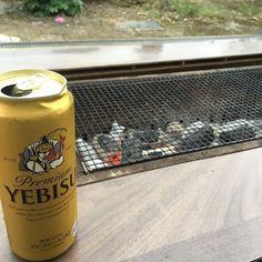 BBQ〜  #bbq #バーベキュー#ビール #beer #肉 #楽しい #ひとりぼっち #1人で乾杯 #フライング #夏 #summer #夏休み #雨降りそう #しかしハエがすごい #山形 #yamagata #帰省 #何人来るか知らない #準備万端