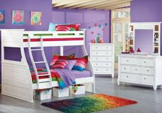 Bunk Bed for your little girl's sleepovers. Cute color scheme.