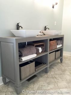 How to Build a Custom Vanity {Without the Custom Price Tag} - Farm Fresh Vintage Finds