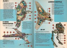 1997 Cutaways of Star Wars Vehicles by trivto.deviantart.com