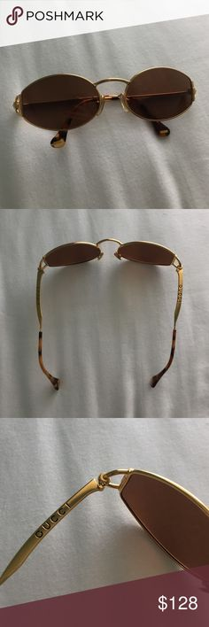 fc71f3b3523f7 VINTAGE GUCCI OVAL SUNGLASSES Here I ve got some rad real GUCCI vintage  sunglasses from