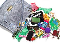 Rebecca Romijn: What's in My Bag? What's In My Purse, Whats In Your Purse, What In My Bag, What's In Your Bag, Rebecca Romijn, Purse Organization, Organizing, Big Fashion, You Bag