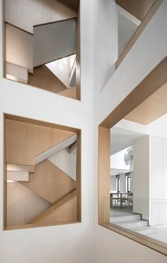 A Desired Home by Liang Architecture Studio - Dwell New Interior Design, Interior Decorating, Interior Minimalista, Studio Living, Apartment Renovation, Modern Staircase, Atrium, Office Interiors, Architecture