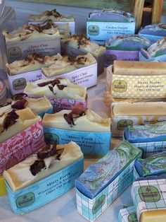 Soap Cuisine, a table of yummy soaps.