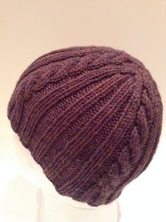 Ravelry: Ribs 'n Cables Beanie pattern by Anne Gagnon