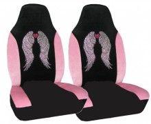 Angel Wing Rhinestone Car Seat Cover  www.CarDecor.com