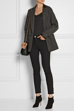 Rag  bone | Primrose leather-trimmed wool-blend coat | NET-A-PORTER.COM