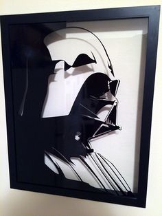 Post with 60 votes and 18609 views. Shared by Star Wars Vinyl Shadow Boxes Kirigami, 3d Paper, Paper Crafts, Paper Quilling, Cuadros Star Wars, Nerd Crafts, Shadow Box Art, Silhouette Cameo Projects, Black And White Pictures