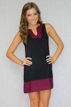 Team Spirit Dress (Black/Garnet)