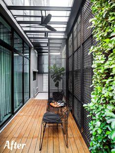 Patio Interior, Interior Exterior, Home Interior Design, House Furniture Design, House Design, Dirty Kitchen Design, Modern Tropical House, House Extension Design, Outdoor Living Rooms