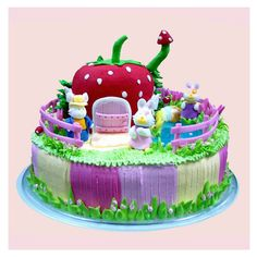 strawberry HUT cake for child #food and drink #child