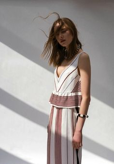 9 Über-Cool Striped Looks to Try Now via @WhoWhatWear