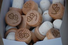 Wedding Wine Stopper Gift, Personalized Wedding Favors Engraved Wood ...