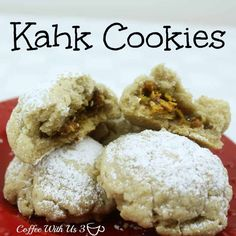 Kahk Cookies are taken to friends and family for Christmas in Egypt. These cookies are slightly sweet like a shortbread and very delicious.