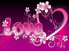 I love you pink flower wallpaper Magenta Flowers, Facebook Cover Images, Name Tattoo Designs, Romantic Images, Valentine Greeting Cards, Full Hd Wallpaper, Wallpaper Backgrounds, Wallpaper Free Download, Valentine Day Love