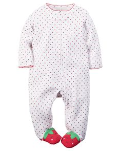 Grenouillère en coton avec fermeture à glissière pour bébés filles | Carter's…