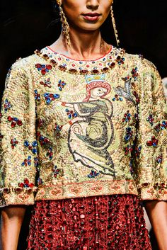 Trending: Mosaic Tile inspirations. Dolce and Gabbana Fall 2013 Milan Fashion Week ZsaZsa Bellagio