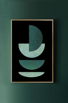 Art Paintings For Sale, Green Paintings, Wall Paintings, Watercolor Paintings, Geometric Shapes Art, Abstract Geometric Art, Green Canvas Art, Green Art, Les Oeuvres
