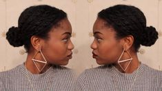 HOW TO: Low Textured Bun on 4C Natural Hair (Protective Style)
