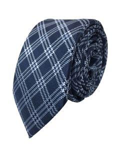 Blue Plaid tie at skinnytie.com.au