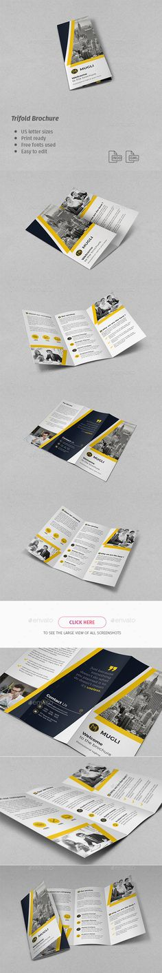 Corporate Trifold Brochure Template InDesign INDD #design Download: http://graphicriver.net/item/corporate-trifold-brochure/14351616?ref=ksioks