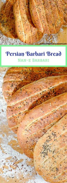 This Healthy Barbari Bread, a popular Persian flatbread, is a must try for those who love baking bread. Crusty outside, tender inside, super tasty and nutritious! It is also known as Nan-e Barbari or Noon Barbari.